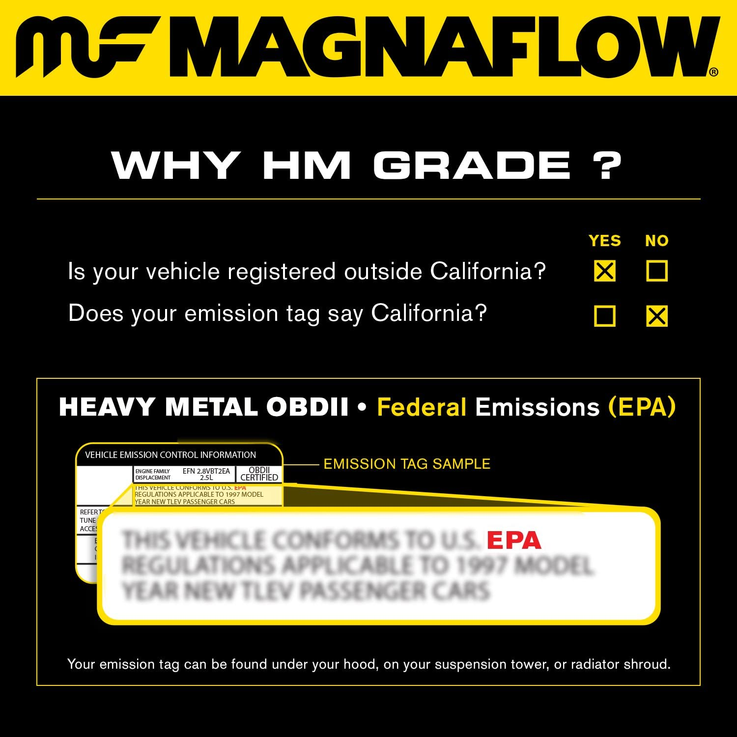 MagnaFlow 24089 Large Stainless Steel Direct Fit Catalytic Converter