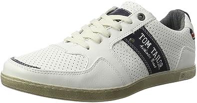 Herren 2780204 Sneaker, Weiß (White), 45 EU Tom Tailor