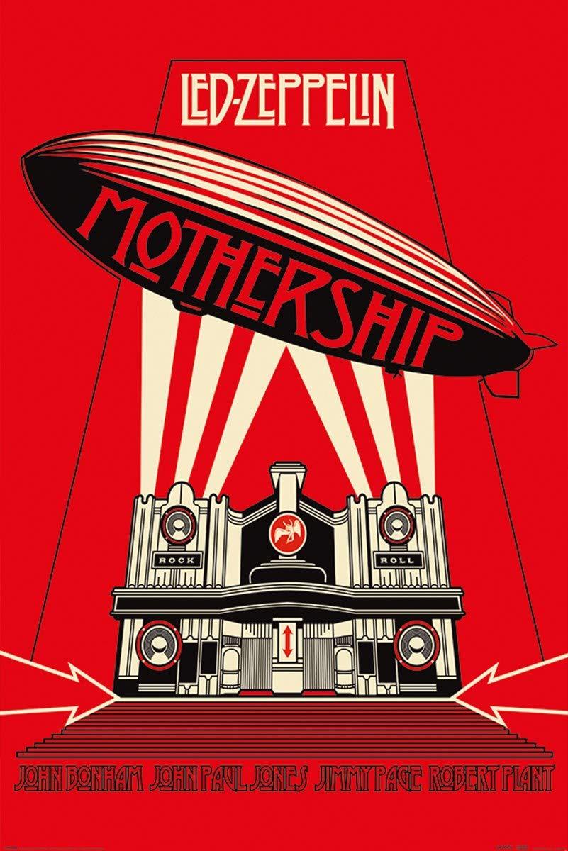 G/én/érique LED Zeppelin Maxi Poster 61 x 91,5 cm Mothership Red