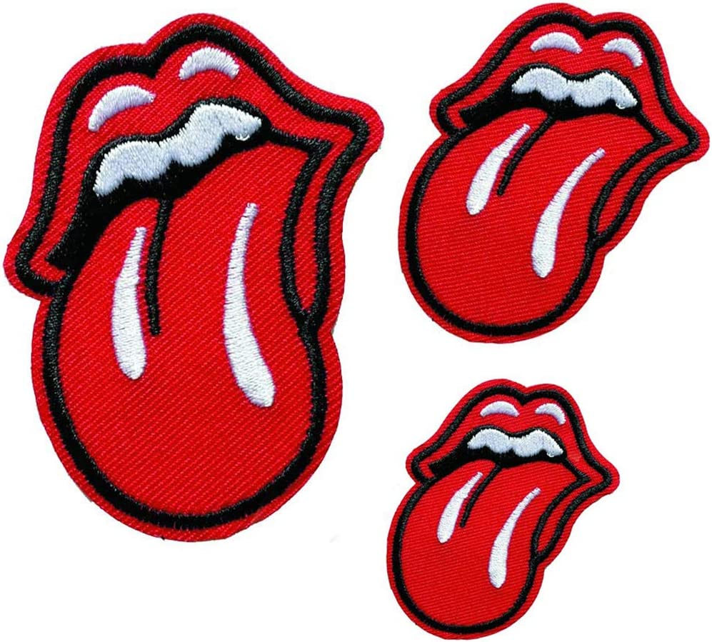 Rolling Stones Iron On Fashion Sequin Patch tongue patch