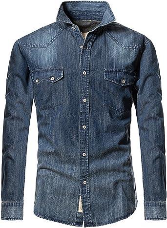 Tanming Mens Oxford Plaid Printed Long Sleeve Shirt