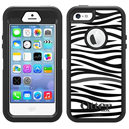Amazon.com: Otterbox Defender Case For Apple IPhone 5S - Zebra ...