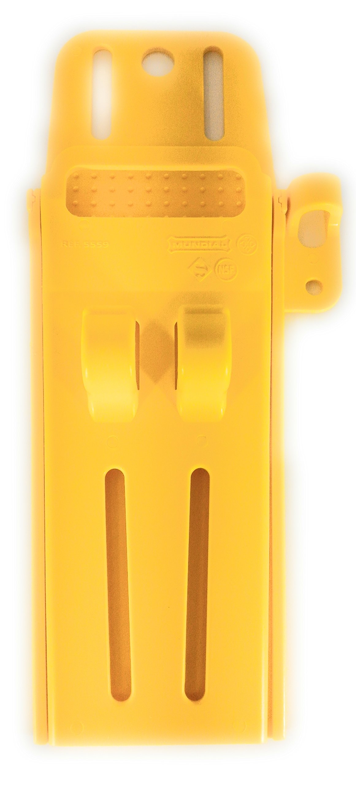 Mundial Master Butcher Series Knife Scabbard - Heavy-Duty Easy Clean Antimicrobial Protected Polymer Construction - Hook And Steel Holder - NSF Certified - Made In Brazil - Pro Butcher Model (Yellow)
