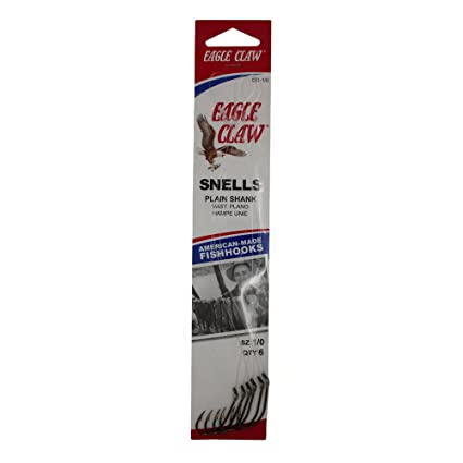 Amazon.com: Eagle Claw 031 Classic snelled anzuelo 6 Pack ...