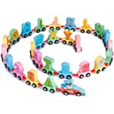 Webby Wooden Educational Printed Alphabets Train Toy, 27Pcs
