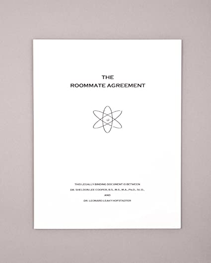 Amazon The Roommate Agreement Inspired By The Big Bang Theory