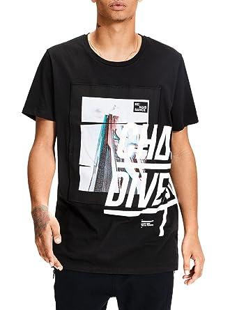 d2ca4e27b1f3 T- Shirt Jack and Jones Jcotench Noir L Noir  Amazon.fr  Vêtements et  accessoires
