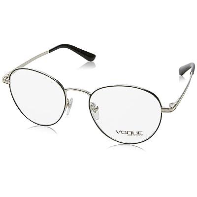 Vogue 0Vo4024, Monturas de Gafas para Mujer, Multicolor (Black/Silver), 50: Ropa y accesorios