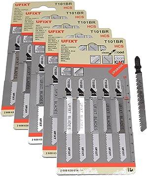 Dewalt Makita, Jigsaw Blades for Wood Laminate T101BR Pack Of 25 Fits Bosch