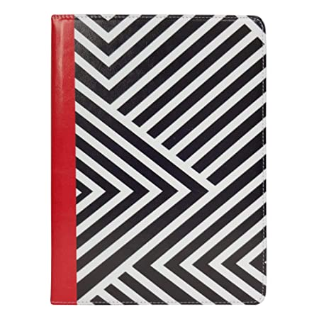 Emartbuy Smart Hard Back Flip Stand Wallet Cover for Samsung Galaxy Tab A 7 SM T280 / SM T285 : Size  7 8 Inch    Black/Red Stripes