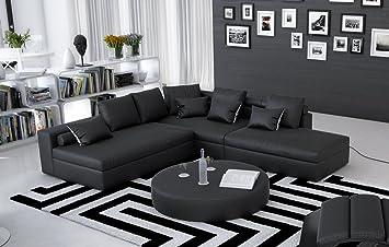 Sam® soggiorno divano angolare con avaldo, Nero, Designed By Ricardo ...