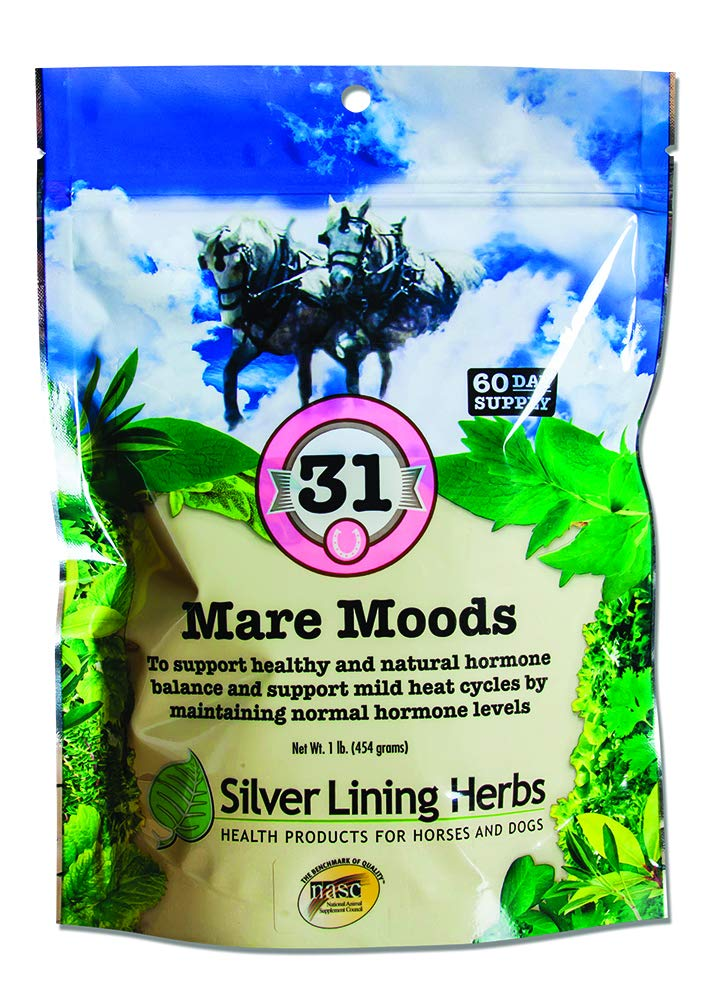 Mare Moods | Supports Mares Healthy and Natural Hormone Balance | Calms Moody Mares To Be More Manageable | Made By Silver Lining Herbs in the USA of Natural Herbs by Silver Lining Herbs