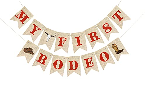 cowboy hat Nursery Birthday 1st rodeo party garland Rodeo party Cowboy Themed Personalised Bunting Ideal Bedroom Decoration Party