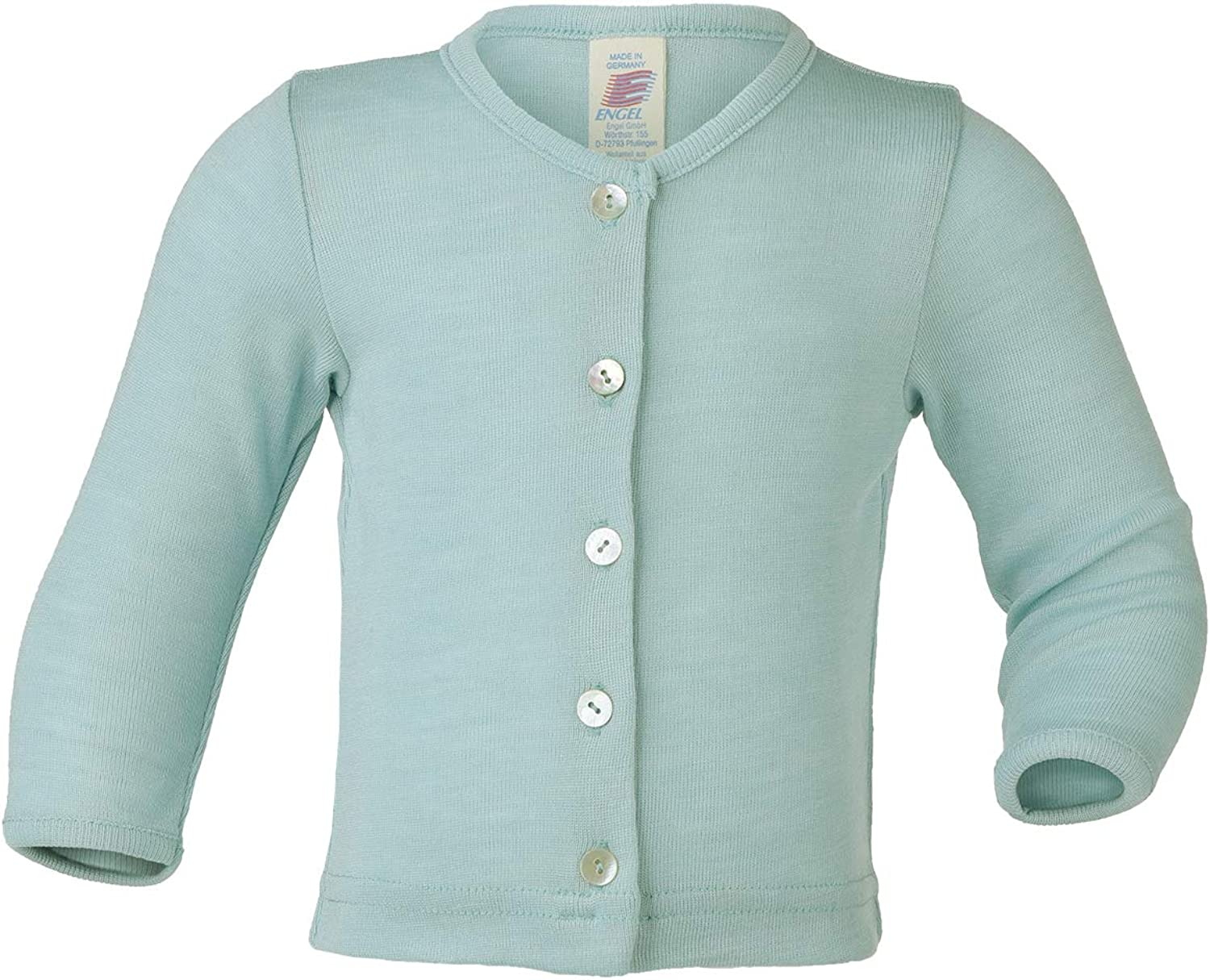 Engel Merino Wool Silk Baby Cardigan Blouse Jacket Shirt top Buttons 70 6441