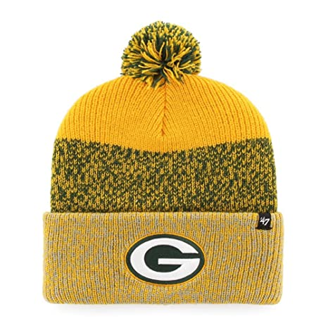 fd617401c Image Unavailable. Image not available for. Color   47 Green Bay Packers  Beanie Static Cuff Knit Hat