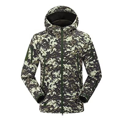 NiSeng Militar Chaqueta Softshell Hombres Impermeable ...