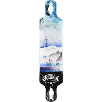Sector 9 Meridian Blue 2016 Longboard Deck With Grip tape : Sports & Outdoors