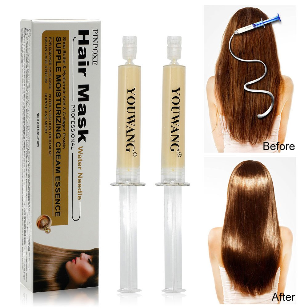 PROFESSIONAL Hair Treatment, Home Use Treatment Kit, Salon Quality Hair Straightening/Blow Dry/Smoothing, 2pcs PINPOXE