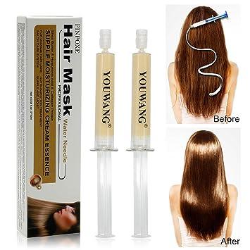 Tratamiento profesional para el cabello, kit de tratamiento para uso doméstico, calidad de salón, alisado de pelo, secar al aire libre, 2 piezas: Amazon.es: ...