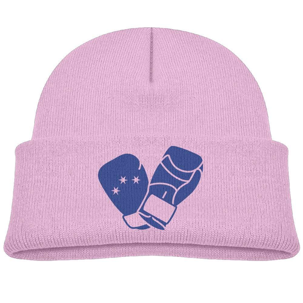 Fzjy wnx Blue Boxing Gloves Wool Hats Soft Boys 0-3 Old