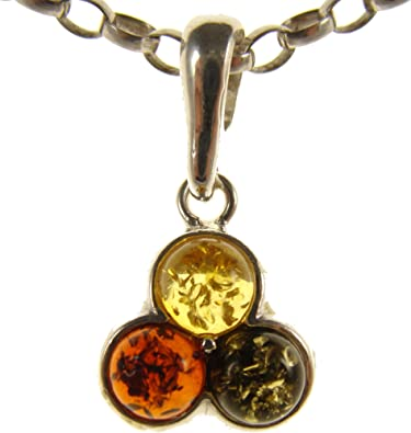 BALTIC AMBER AND STERLING SILVER 925 PENDANT NECKLACE 14 16 18 20 22 24 26 28 30 32 34 1mm ITALIAN SNAKE CHAIN