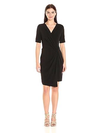 Karen Kane Womens Crossover Drape Dress At Amazon Womens Clothing