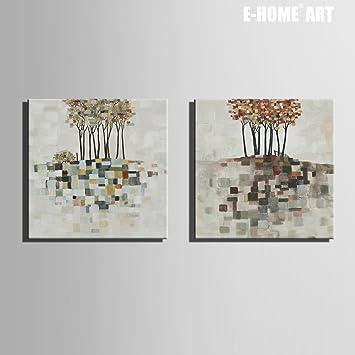 Hochwertig FJ Berg Farbe Baum Dekoration Malerei Rahmenlose Malerei Hängen Zwei  Wohnzimmer Esszimmer Gang , 60