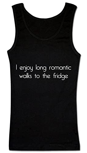 I Enjoy Long Romantic Walks To The Fridge Camiseta sin mangas para mujer