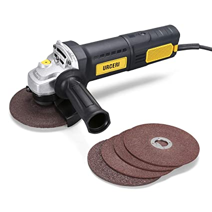 URCERI Angle Grinder 1250W 220V 11000 RPM, 125mm Grinding Wheel, Corded  Grinder with Wheel Guard and 2-Position Side Handle for All Cutting and