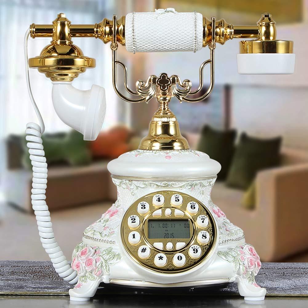 European Antique Telephone High-End Luxury Home Landline Retro Living Room Creative Decoration Telephone,3 by Telephone