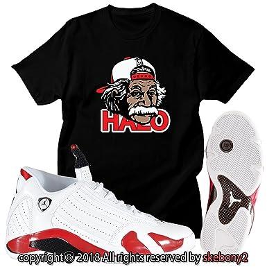 bdf1718d32eb New Custom T Shirt AIR Jordan 14 Last Shot Matching TEE JD-14-2-11 at  Amazon Men s Clothing store