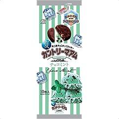 【ビスケット・クッキーの新商品】不二家 10枚夏カントリーマアム(チョコミント) 10枚×5袋