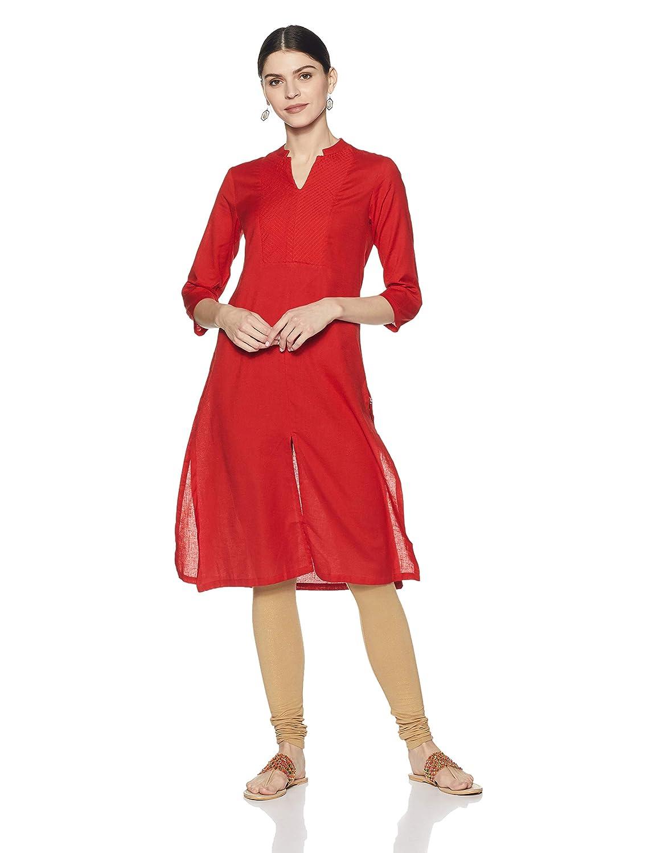Red Color Women's Angrakha Kurta