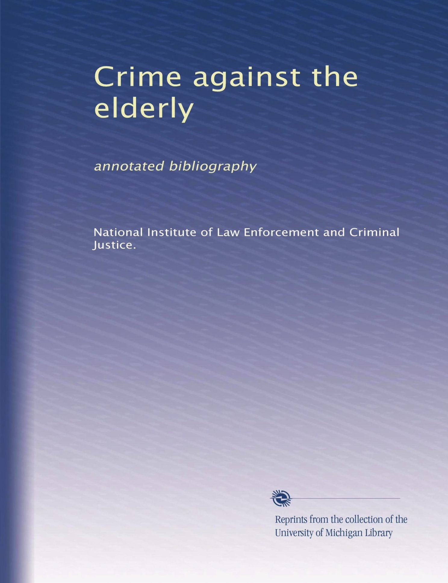 order criminal law annotated bibliography