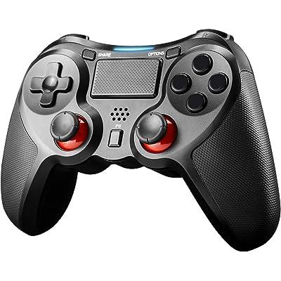 JAMSWALL Mando Inalámbrico para PS4,Mando PS4 Inalambrico,Gamepad Wireless Bluetooth Controlador Controller Joystick con Doble Vibracion/Puerto de Audio Compatible con PS4/ PC (Windows XP/7/8/8.1/10)