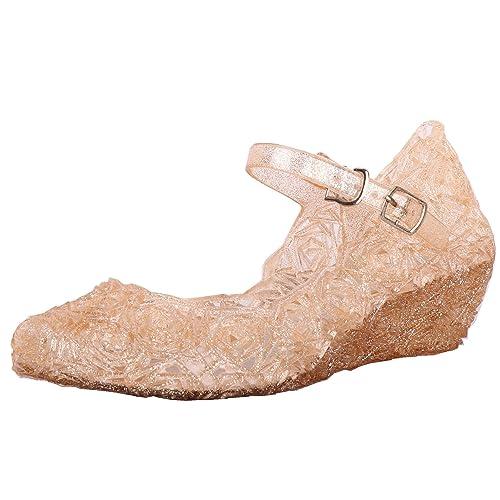62113330cd631 Tyidalin Niña Bailarina Zapatos de Tacón Disfraz de Princesa Zapatilla de  Ballet Para 3 a 12 Años EU28-33(Color Púrpura