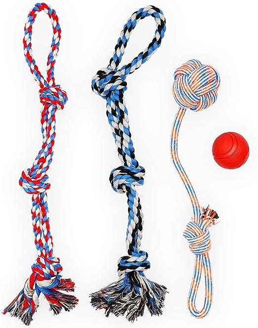 Juguetes para Perros,Hecha de Algod/ón y Cuerda de Nylon Seguro Sano Juguete Interactuar Adecuado para Medianos Juguetes Perros peque/ños