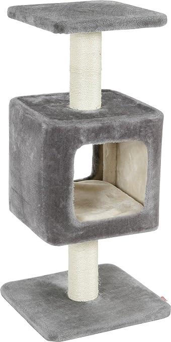 Zolux Arbre à Chat Cube avec Griffoir Niche Gris 34 x 34 x 75 cm   Amazon.fr  Animalerie 05bc1f37fdac