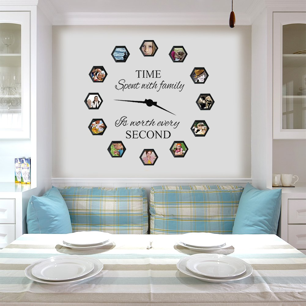 Family Wall Decals~With PVC Clock hands(Dummy Clock Arms)~Time ...