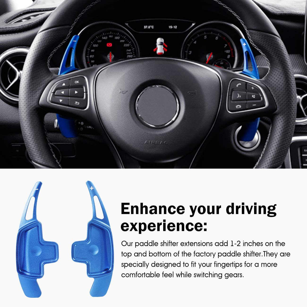 Silver Aluminum Metal Steering Wheel Paddle Shifter Fit For BMW 2 3 4 X1 X2 X3 X4 X5 X6 Series,F Chassis Partol Steering Wheel Paddle Shifter Extensions For BMW