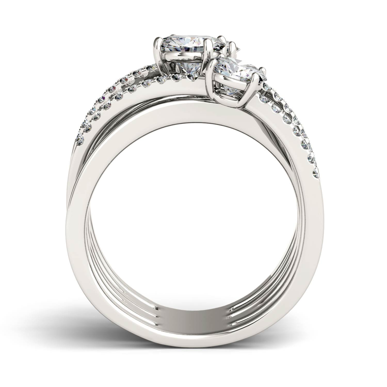 Forever Brilliant Round 6.0mm Moissanite Band Style Ring-size 6, 2.28cttw DEW By Charles & Colvard by Charles & Colvard (Image #3)