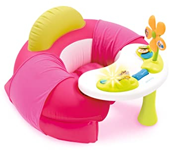 SMOBY 110211 - Cotoons Baby Asiento con Activity mesa, color rosa: Amazon.es: Bebé