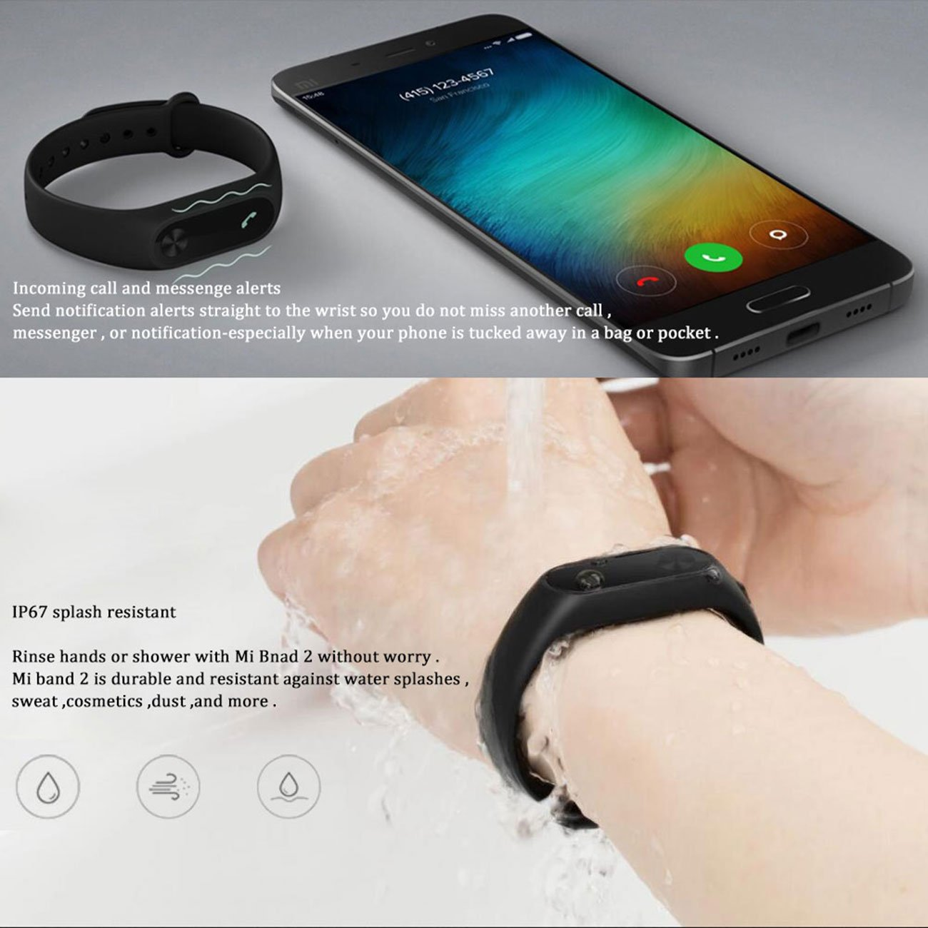 Xiaomi Mi Band 2 With A Strap Bluetooth 40 Original Smart Bracelet Wristband Oled Display Water Resistant Heart Rate Fitness Tracker