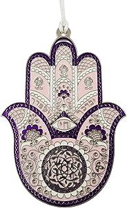 TALISMAN4U Pink Enamel Good Luck Hamsa Hand Wall Hanging Home Decor Hebrew Priestly Blessing Evil Eye Protection Gift 4