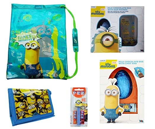 Minions easter gift set with easter eggs ear phones swim bag minions easter gift set with easter eggs ear phones swim bag pez dispenser negle Image collections
