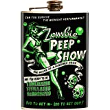 Zombie Peep Show Novelty Stainless Steel Flask