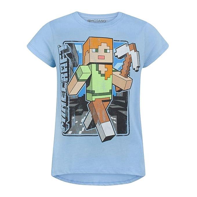 Minecraft - Camiseta diseño Retro Modelo Alex para niñas (5-6 Años Azul)   Amazon.es  Ropa y accesorios 81a8cd8741129