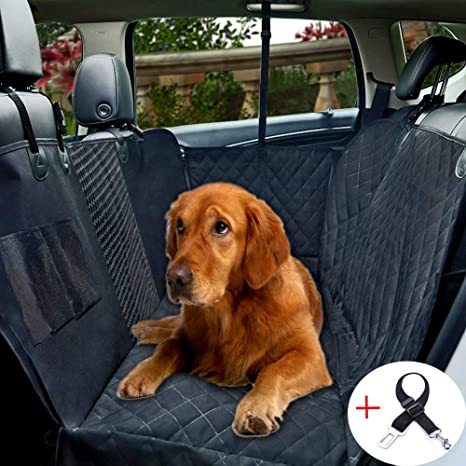 Excellent Dog Car Seat Cover With Mesh Viewing Window Waterproof Non Scratch Pet Seat Protector Cover Large Back Seat Cover With A Storage Pocket For Dog Cat Evergreenethics Interior Chair Design Evergreenethicsorg
