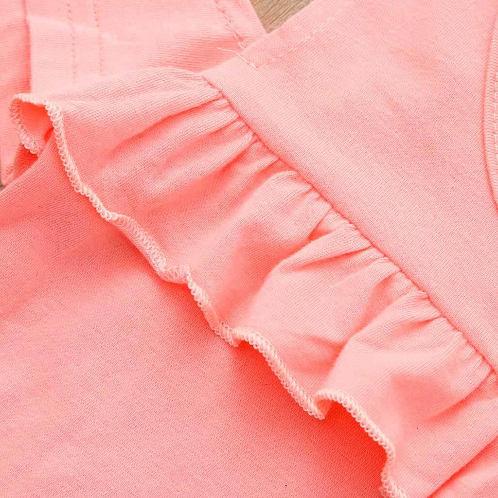 Set di Jeans Strappati con Foro Markthym Top T-Shirt Top per Bambina con Risvolto Increspato e Maniche Larghe