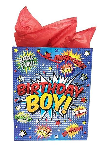 Bolsa de regalo de cumpleaños con diseño de cómic para niño ...